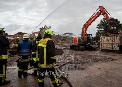 Roth GmbH Roger Thode Abbruch Feuerwehreinsatz